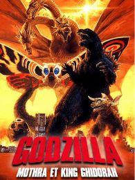 Affiche du film Godzilla, Mothra and King Ghidorah: Giant monsters all-out attack